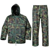 Wholesale Camouflage Reusable Raincoat with Jacket and Pant from china suppliers