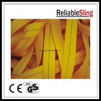Wholesale 1 Ton 25mm Yellow Ratchet Strap Webbing , Polyester tie down webbing from china suppliers