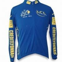Wholesale Cycling jersey with 3 Pockets on the Back, OEM Orders are Welcome, Suitable for Road Use from china suppliers