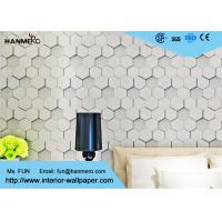 Wholesale Greywhite Modern Removable Wallpaper 1500g , Geometric Modern Wallpaper from china suppliers