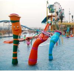 Wholesale Customized Carp Carton Spray Park Aqua Park Equipment For Children / Kids Fun from china suppliers