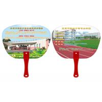Quality Lovely PVC Plastic Products , Waterproof Custom Printed Hand Fans With Handle for sale