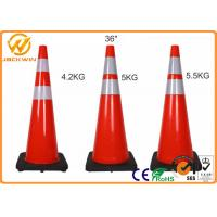 Wholesale Highway Security Traffic Safety Cones , Reflective Red 36 Traffic Cones Rental from china suppliers