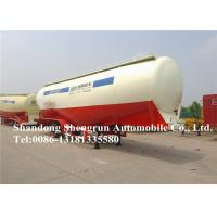 Quality Mechanical Suspension Dry Bulk Cement Trailer 45cbm , Cement Tanker Trailer for sale