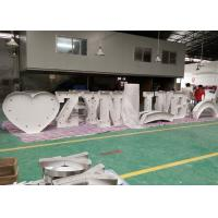 Wholesale Colorful Giant Love Light Bulb Letters , Metal Illuminated Letters For Weddings from china suppliers