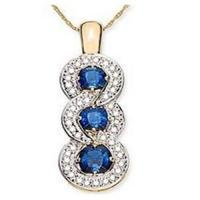 Wholesale Blue Sapphire & Diamond Pendant from china suppliers