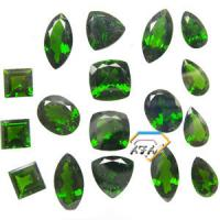 Wholesale Cushion Chrome Diopside Gemstone Green For Bracelets 5mm 0.6 Carats from china suppliers