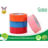 Wholesale Custom Printed Pink / Blue Packing Tape , Coloured Sticky Tape Environment Protection 35 - 65 Mic from china suppliers