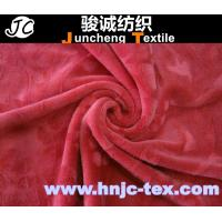 Wholesale polyester spendex blend elastic super soft velboa fabric/ fabric flower brush/carpet from china suppliers