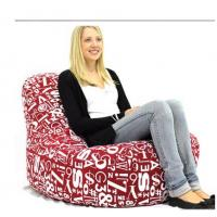 Wholesale Foam Bean Bag Chairs For Kids , Red Huge Lazy Sofa Chairs In Living Room from china suppliers