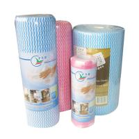 Wholesale Washable Spunlace Non Woven Household Cleaning Wipe Roll Multi Color , Eco Friendly from china suppliers