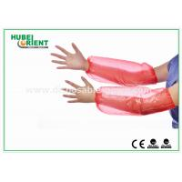 "Wholesale Red 18"" PE Plastic Disposable Arm Sleeves / Oversleeve for hospitals from china suppliers"