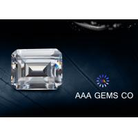 Wholesale 5 Carat / 3 Carat Classic White Moissanite , Emerald Cut Moissanite from china suppliers