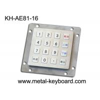 Wholesale 16 Keys Vandal Resistant Industrial Metal Keypad , Weatherproof Keypad USB Interface from china suppliers