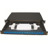Wholesale Sliding 1u 24 Port Patch Panel With Drawer And 0.9mm Fiber Pigtail from china suppliers