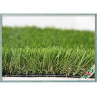 Wholesale High Wear Resistance Outdoor Artificial Grass Field Green / Apple Green Color from china suppliers