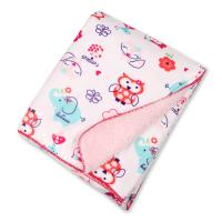 Eco - Friend Customized Lightweight Polyester Baby Blanket Warped Knitting