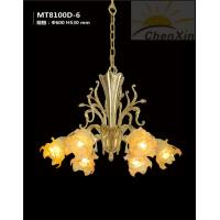 Wholesale Flower Flame Glass Chandelier Pendant Lights 110V - 220V Amber Material Energy Saving from china suppliers