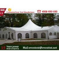 Wholesale Easy Up High Peak Tent Transparent Glass Window With Wedding Decoration from china suppliers