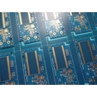 Wholesale 10up per Panel Matt Blue PCB Immersion Gold PCB Slots with V-cut Routing Milling and Tooling Strips from china suppliers