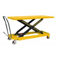 Wholesale Single Person Small Manual Hydraulic Lift 1600mm * 800mm Portable Hydraulic Table Cart from china suppliers
