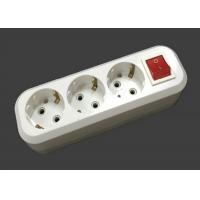 Wholesale 3500W 220V - 250V Electric Extension Cord 3 Outlets ABS Material With Switch from china suppliers