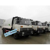 Wholesale Strong compressive force white color Dongfeng 6x4 11ton 16 - 18m3 garbage compactor truck with self loading at rear from china suppliers