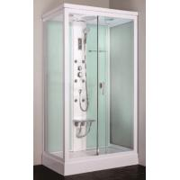 Wholesale Cheap square framed sliding glass door steam shower cabin with seat from china suppliers