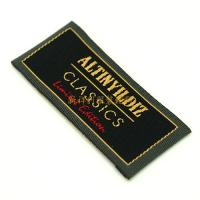 Colorful End Folded Custom Woven Labels Low Minimum For Textile / Clothing