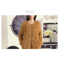 Wholesale Round neck zipper design long sleeves ladies fashion & elegant fur coat from china suppliers