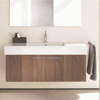 Quality Hotel Customized Drawers Wood Grain Bathroom Vanity Units With Sink / Tap for sale