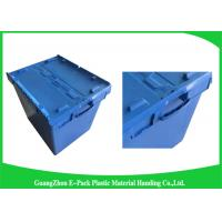 Wholesale Moving Crate Plastic Attached Lid Containers for Tool , Easy To Clean 75*57*62.5CM from china suppliers