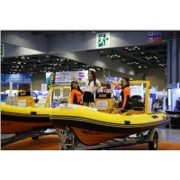 Wholesale 17ft orca hypalon inflatable rib boat  rib520A with sunbed center console rear cabin CE certificate from china suppliers