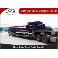 Quality Heavy Duty 40-60 Ton Low Bed Semi Trailer Excavator Truck Trailer for sale