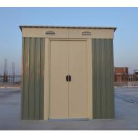 Wholesale Prefab Small Flat Roof Garden Tool House / Metal Garden Sheds With Zinc Steel Frame from china suppliers