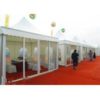Wholesale White Pagoda Big Trade Show Canopy Tents With Clear Glass Wall And Door from china suppliers