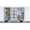 Buy cheap Grey Tempered Glass Aluminium Sliding Security Doors Customized Shape from wholesalers
