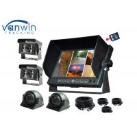 Wholesale 4 Channel TFT Car Monitor DVR 7 inch with 4 Cameras / Recording function for Truck from china suppliers