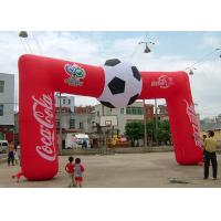 Wholesale Football Red Custom Coca Cola Inflatable Entrance Arch , Inflatable Finish Arch With Full Printing from china suppliers