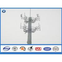 Wholesale 10 - 40 m Electric cell phone tower Steel Monopole mast Slip Joint Connection from china suppliers
