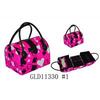 Wholesale Personalized Fashion PU Cosmetic Bag With Handle , Beautiful Makeup Bags from china suppliers