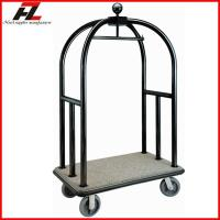 Quality Hotel Black Gold Finished Birdcage Baggage Trolley/Heavy Duty Baggage Trolley for sale