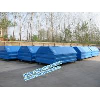 Quality Inland factory supplied 7500 liters full sealed hooklift containers low price for sale for sale
