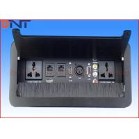 Wholesale Brushed Cover Desktop Flip Up Power Outlet Universal Standard With Network Port from china suppliers