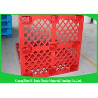 Quality Stackable Black Plastic Skids Pallets , Lightweight Plastic Pallets 100% Recycled Material for sale