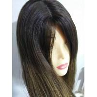 Buy cheap European Human Hair Wig Jewish Wig Kosher Wig, 22 inches Dark Roots from wholesalers