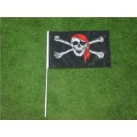 Wholesale Hand Held Custom Advertising Flag Banners With Solid Black Plastic Pole from china suppliers
