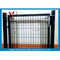 Wholesale Black Powders Sparyed Coating Welded Wire Fence Gate With Square Post from china suppliers