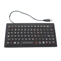 Wholesale IP65 81 Keys Thin Black Silicone Rubber Keyboard  , 222.0mm X 100mm X 9.1mm Size from china suppliers