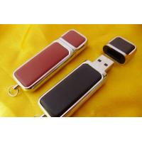 Wholesale Write Protected Leather USB Flash Drive 256MB 512MB 1GB 2GB 4GB 8GB 16GB from china suppliers